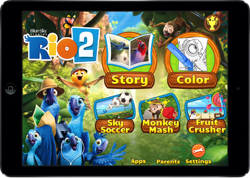 The Official App For 'Rio 2' Launches Featuring Blu, Jewel And All Their Friends