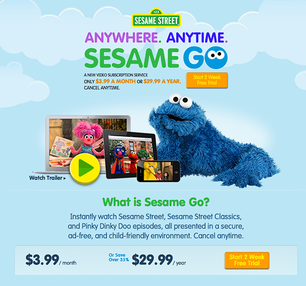 Sesame Street's New Sesame GO Video Streaming Service Is Perfect For iOS Devices