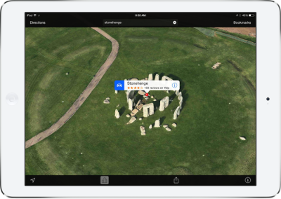 Apple's Maps App Gets 3-D Flyover Support For Mysterious Stonehenge