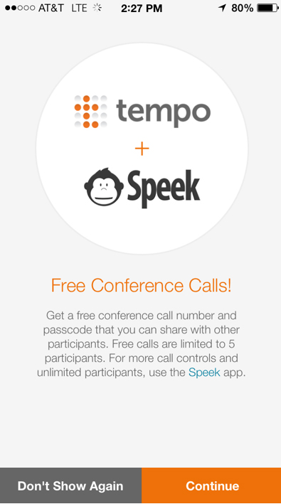 Tempo Smart Calendar Now Features Free Conference Calling