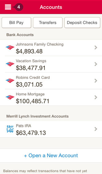Bank Of America For iPhone And iPad Updated With New Design And Features