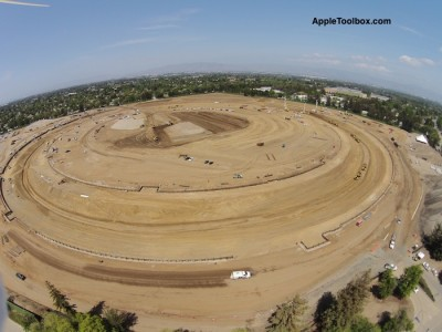 Apple's Campus 2 Spaceship Design Is Now Visible From The Air