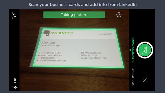 Evernote's Latest Update Brings Smarter Business Card Scanning