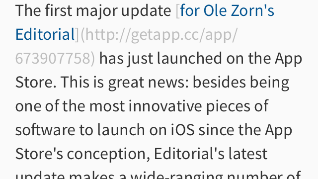 Editorial App Updated To 1.1: The Best iOS Text Editor Just Got Better