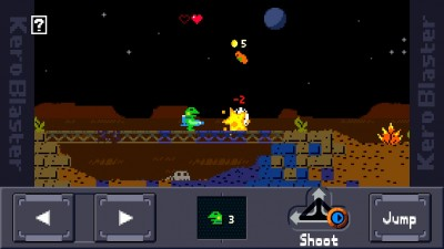 KeroBlaster Is The Challenging Retro Side-Scrolling Platformer Where The Frog Means Business