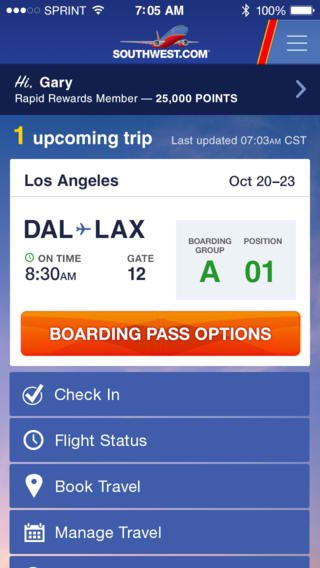 Southwest Airlines iOS App Expands Mobile Boarding Pass Support To More Airports