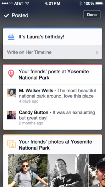 Facebook Is Testing Out Contextual Content On Its iOS App
