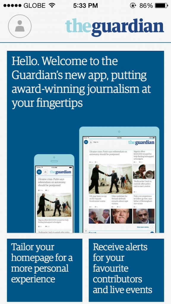 Extra! Extra! The Guardian Updates Official iOS App With New Design And Features
