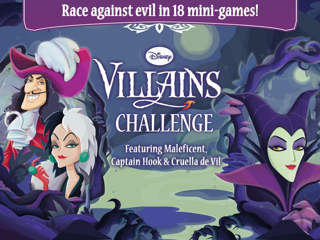 Play Against Maleficent, Cruella de Vil And Captain Hook In Disney Villains Challenge