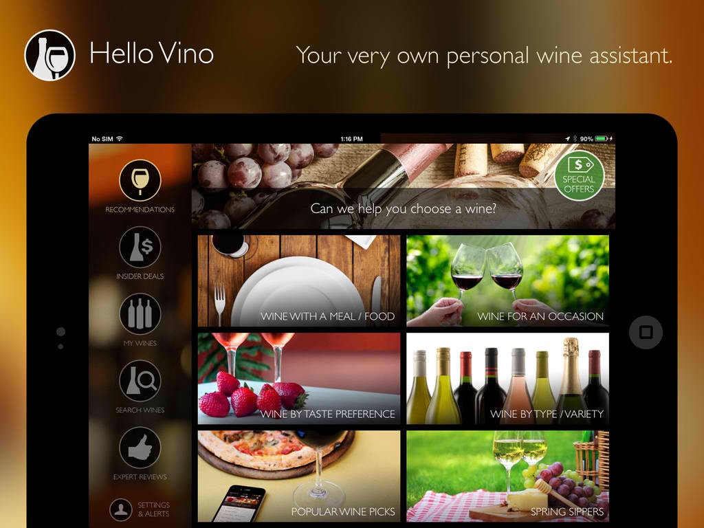 Have A Sparkling Spring With The Newly Updated Hello Vino Personal Wine Assistant App