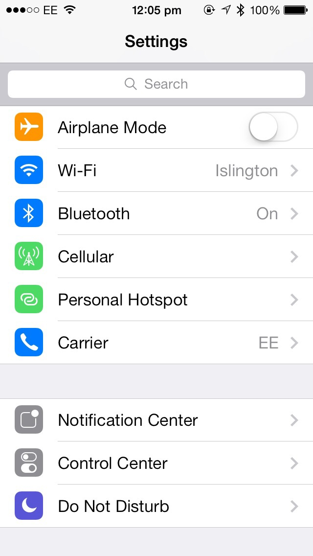 Cydia Tweak: SearchSettings Adds A Speedy Search Field To The Settings App