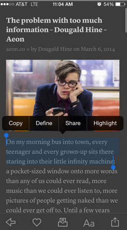 Highlight And Save Text From Any Article With The Updated Instapaper