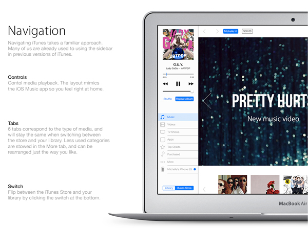 This Spectacular Concept Of A Redesigned iTunes Is Inspired By iOS 7