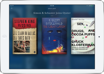 Updated: Simon & Schuster Titles Join Oyster, The 'Netflix Of Books'
