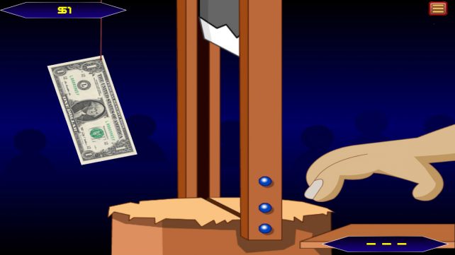 Test Your Reflexes With This High-Risk Grabbing Money Game