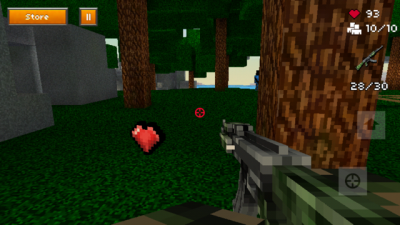 This 8-Bit Sky Survival Island Game Is A Throwback To First Person Shooters