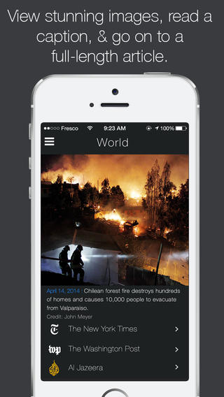 Get Your Fill Of Daily News Through Powerful Images With Fresco News On iPhone
