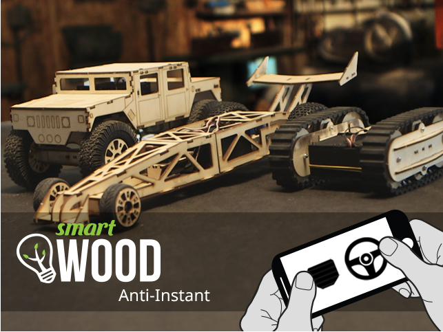 Modern Day Pinewood Derby: Control A SmartWood Vehicle From Your iPhone