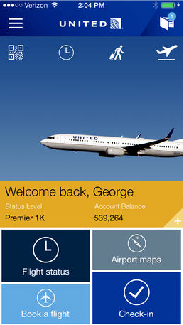 United Airlines Debuts An In-Flight Entertainment Service Only For iOS Devices
