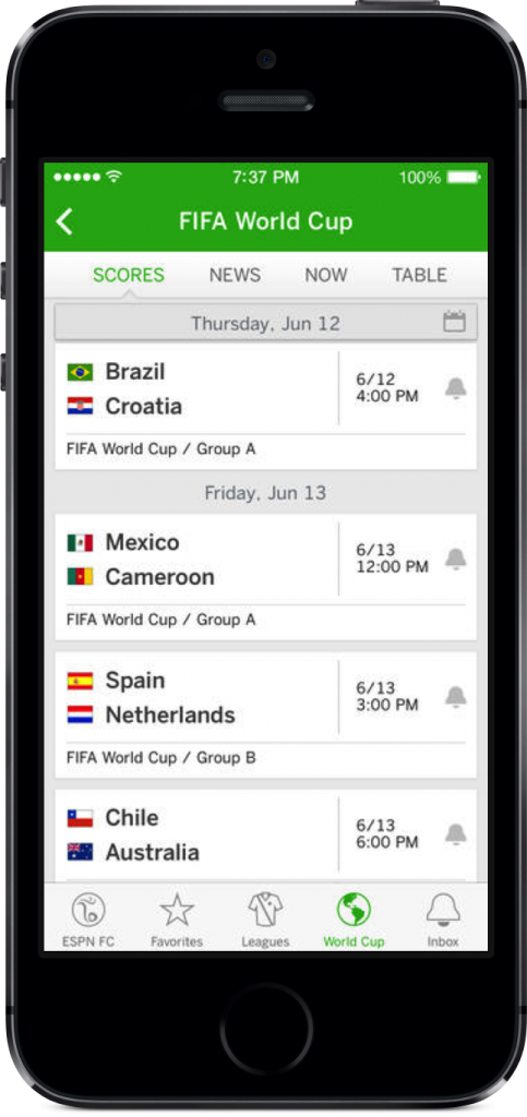 The ESPN FC Soccer & World Cup iPhone App Kicks Its Way Into The App Store