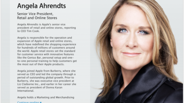 Apple retail head Angela Ahrendts shares insights in debut tour Q&A session