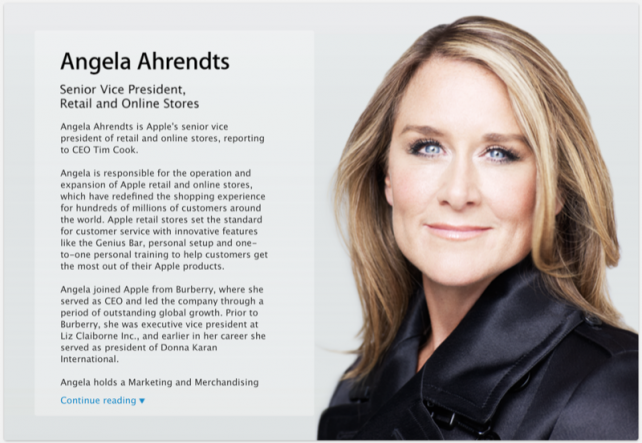Apple Retail Head Angela Ahrendts Shares Insights In Debut