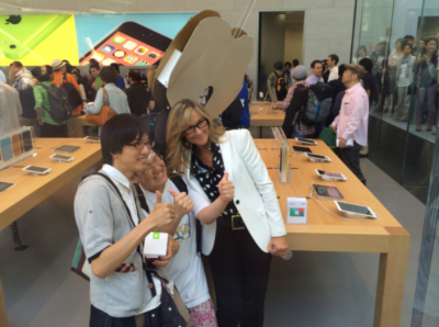 Apple Holds Grand Opening Of Its Omotesando Store With Retail Head Angela Ahrendts