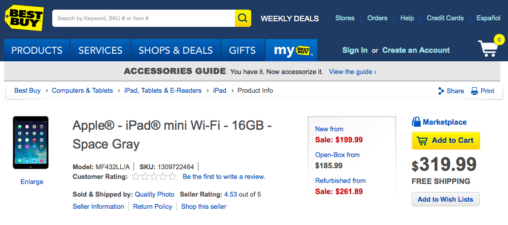 Matching Target's Promotion, Best Buy Is Now Offering The First-Gen iPad mini From $199