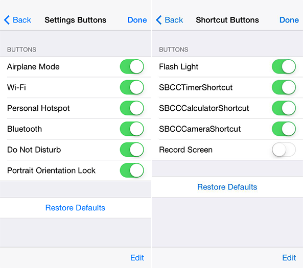 Hidden iOS 8 Settings Reveal Control Center And Lock Screen Customization Options