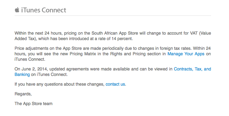 Apple Informs Developers Of New App Store Price Changes In South Africa
