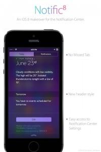 Cydia Tweak: Notific8 Ports The iOS 8 Notification Center Over To iOS 7