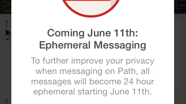 Snapchat-Like Ephemeral Messaging Coming Soon To Social Networking App Path