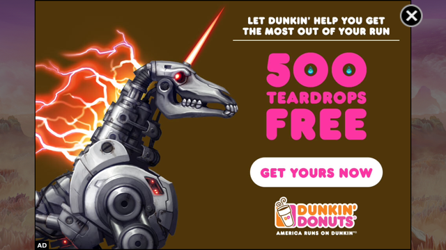 Dunkin' Donuts Keeps You Running In Adult Swim's Robot Unicorn Attack 2