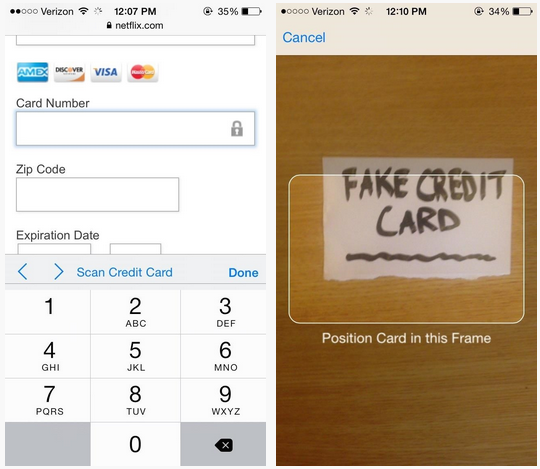 Yes, You Scan: Apple Adds Credit Card Scanning Feature To Safari In iOS 8