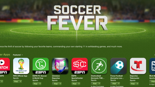 Ahead Of World Cup Kick-Off, Apple Adds A 'Soccer Fever' Section To The App Store