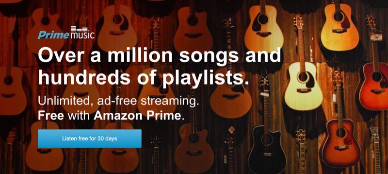 Amazon Launches Prime Music For Subscribers, Updates Its Cloud Player iOS App