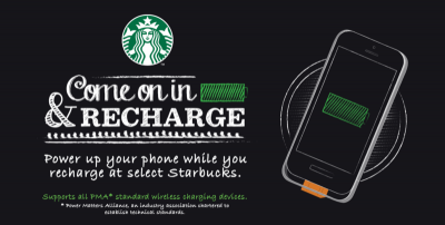 Duracell Brings iPhone-Compatible Wireless Charging To US Starbucks Stores