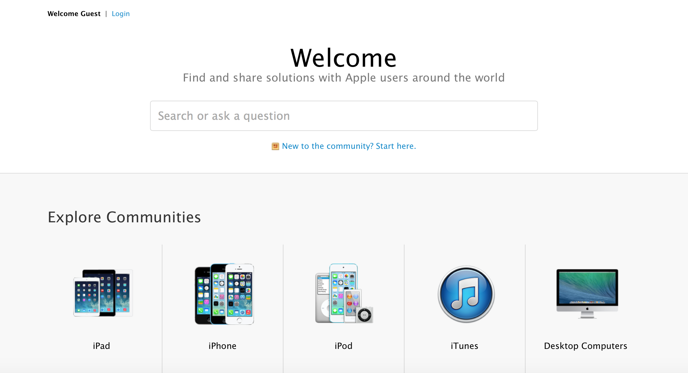Apple Updates Its Support Communities Website, Adds Instant Search Box