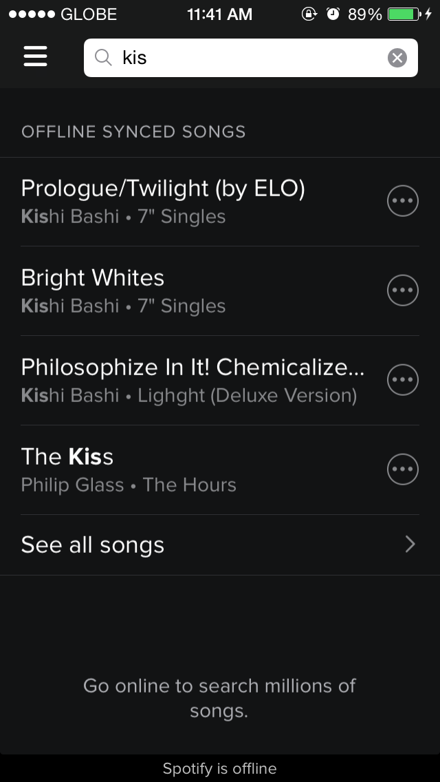 Spotify For iOS Now Lets You Search For Downloaded Music When Offline