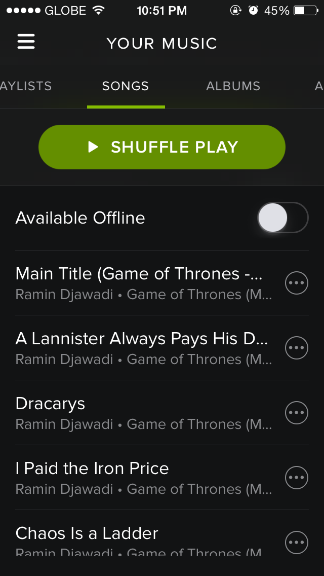 Spotify For iOS Now Lets You Sync All Of 'Your Music' With A Single Tap