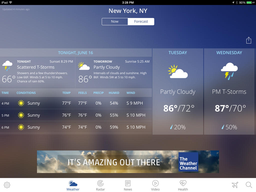 Looking Good: The Weather Channel App For iPad Goes 4 0 With