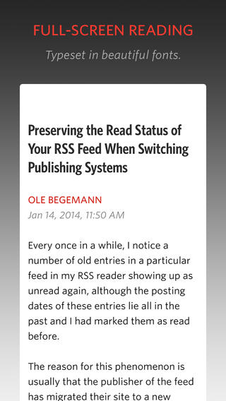 Unread RSS Reader Updated With Improvements, iPad Version Coming Soon