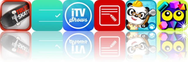 Today's Apps Gone Free: True Skate, Noti:Do, iTV Shows 3 And More