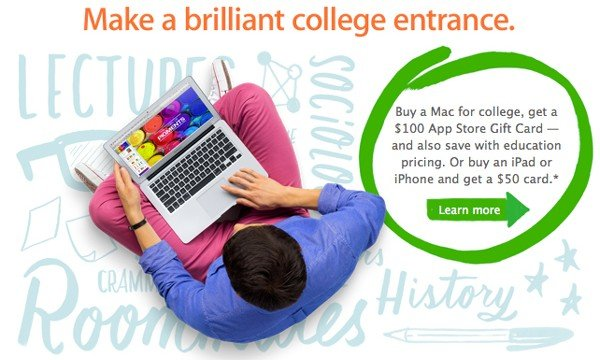 Apple's Annual 'Back To School' Promotion Will Kick Off Tomorrow