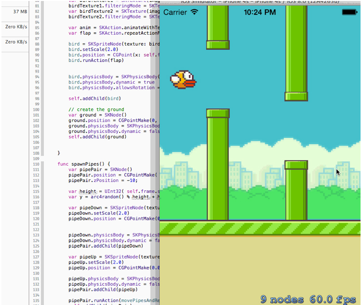 Developer Recreates Flappy Bird In Apple's New Swift Programming Language