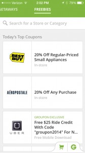 Groupon Launches The Freebies Mobile Coupon Network On Its iOS App