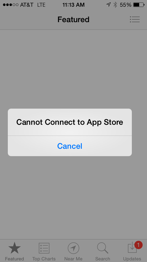 Some Users Experiencing Intermittent App Store And iTunes Outages