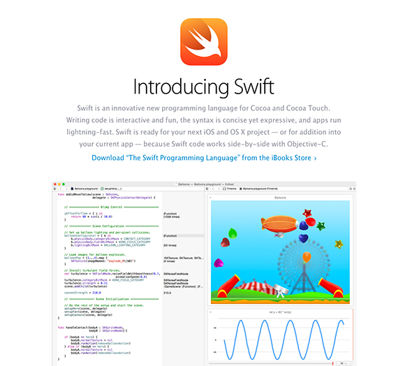 Apple Releases A Swift Programming Language Guide On The iBookstore