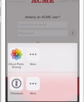 AgileBits showcases a 1Password app extension for iOS 8 apps
