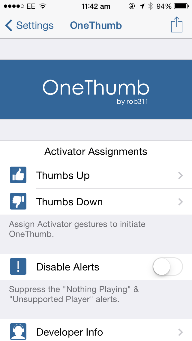 Cydia tweak: OneThumb makes Internet radio station curation much easier